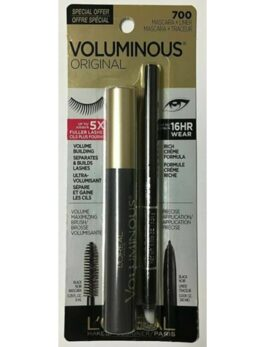 Loreal Voluminous Original Black Mascara+Liner700 in carnesia