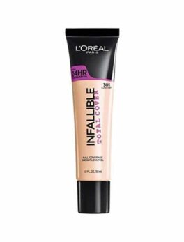 Lóreal Infalibale Total Cover Foundation-301 in Carnesia