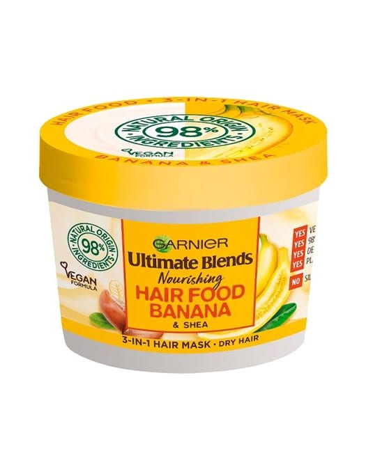 Garnier Ultimate Blends Hair Food Banana 3-In-1 Dry Hair Mask Treatment in Carnesia