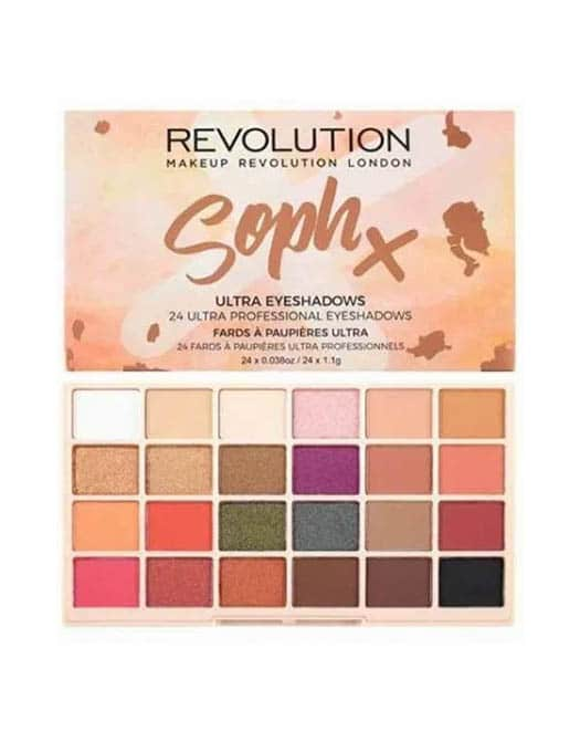 Revolution Soph X Ultra Eyeshadow Palette in carnesia