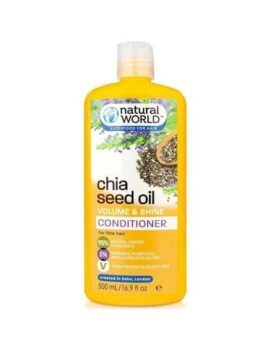 Natural World Chia Seed Oil Volume & Shine Conditioner in Carnesia