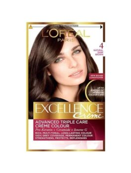 L'Oreal Paris Excellence Creme 4 Natural Drak Brown in Carnesia