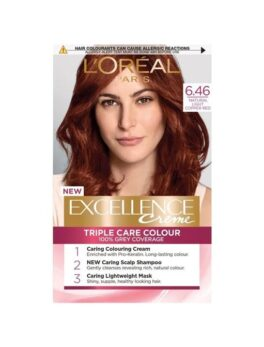 L'Oreal Paris Excellence Creme 6.46 Natural Light Copper Red in Carnesia