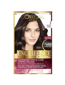 L'Oreal Paris Excellence Crem 3 Natural Darkest Brown in Carnesia