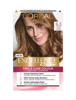 L'oreal Paris Excellence Crème- 6.3 Natural Light Golden Brown