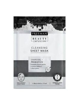 Freeman Beauty Infusion Charcoal + Probiotics Cleansing Sheet Mask