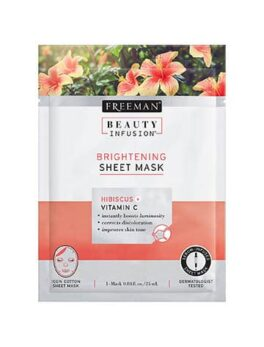 Freeman Beauty Infusion Hibiscus + Vitamin C Brightening Sheet Mask