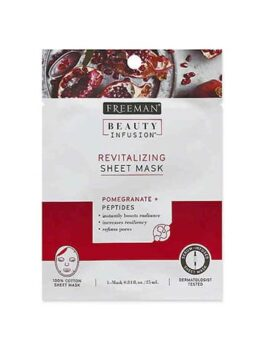Freeman Beauty Infusion Mask Revitalizing Sheet  is easy-to-use serum-infused facial sheet masks with natural botanicals + powerful beauty boosters