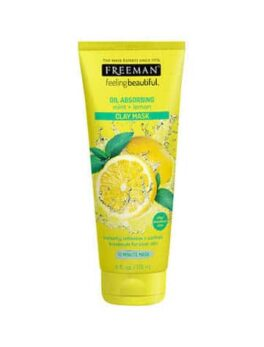 Freeman Beauty Oil Absorbing Mint + Lemon Clay Mask 175ml