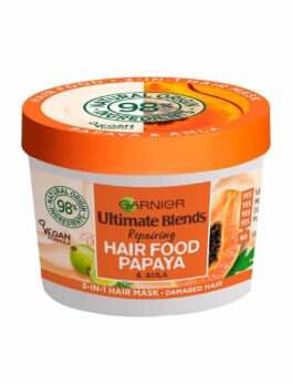 Garnier Ultimate Blends Hair Food Papaya 3-in-1 Damaged Hair Mask Treatment 390ml in Carnesia