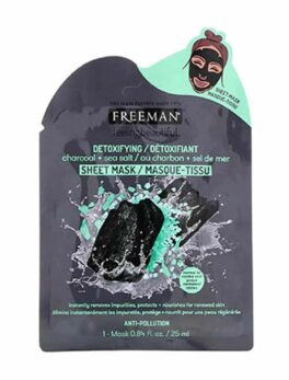Freeman Beauty Feeling Beautiful Freeman Detoxifying Charcoal & Sea Salt Sheet Mask in Carnesia