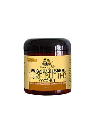 Sunny Isle Jamaican Black Castor Oil Pure Butter With Coconut Oil 4oz in Carnesia