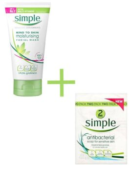SIMPLE MOISTURISING FACE WASH+SIMPLE PURE SOAP FOR SENSITIVE SKIN in Bangladesh