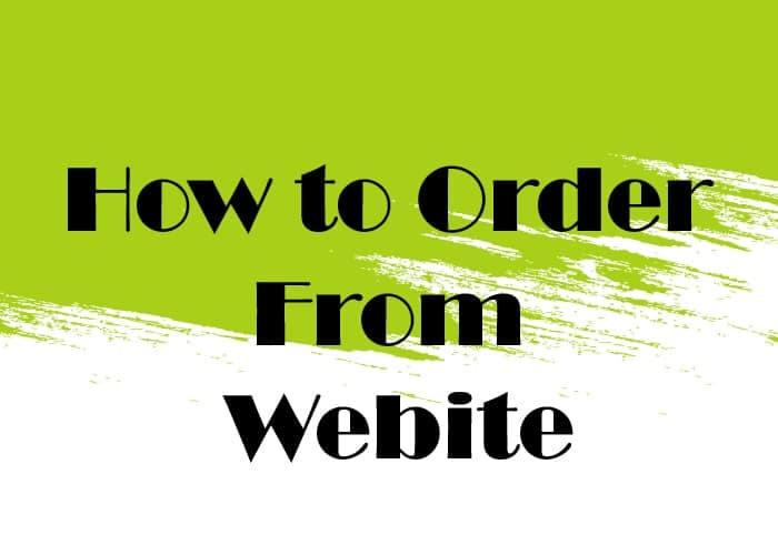 How to order from Carnesia's website