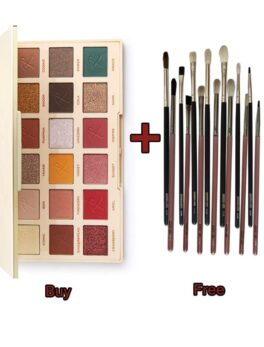 Revolution X Roxxsaurus Die Shadow Palette (Buy)+ 7 Pieces Eye Brush Set (blending brush) (Free) in Bangladesh