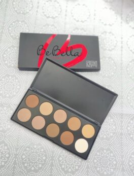 BE BELLA 10 COLOR CONTOUR & BLUSH PALETTE -10C in carnesia