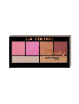 L.A. Colors So Cheeky Blush and Highlight Palette-Pink and Playful  in Bangladesh