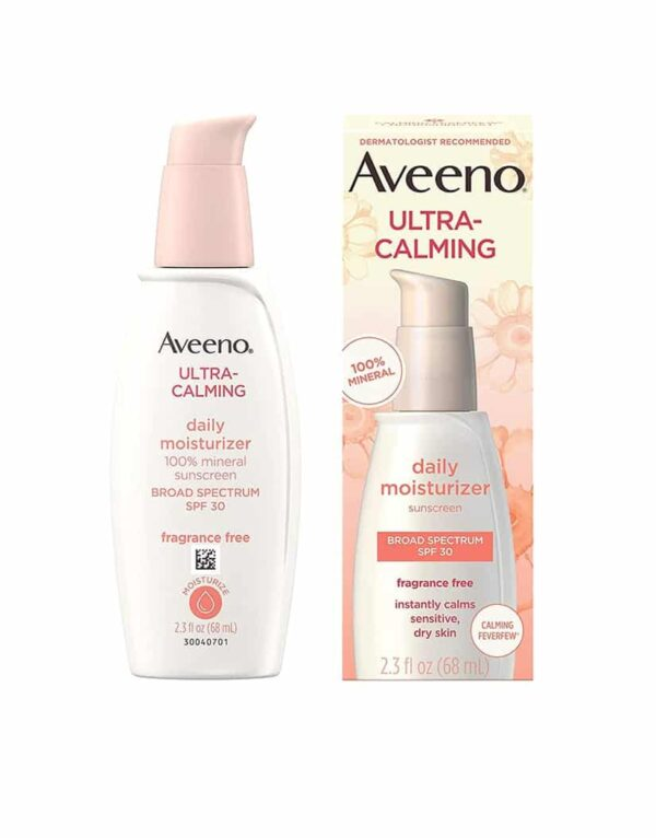 Aveeno Ultra-Calming Fragrance-Free Daily Facial Moisturizer for Dry and Sensitive Skin with SPF 30 in bangladesh