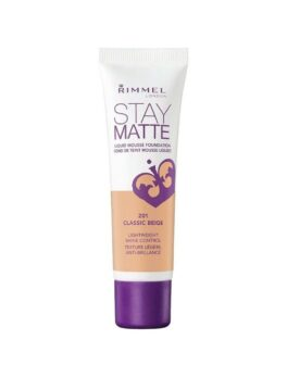 Rimmel London Stay Matte Liquid Foundation 30ml - 201 Classic Beige in Bangladesh