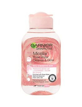 Garnier Skin Active Micellar Rose Water Cleanser & Sensitive Makeup Remover 100ml in carnesia