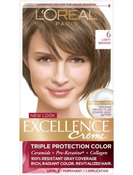 Excellence Crème Hair color products provide super rich care for super rich color. A permanent, non-drip crème that covers 100% of grays, even the most resistant ones. The Triple Protection System cares for your hair before, during and after you color. Excellence Crème conditioning hair color leaves your hair with absolutely gorgeous color. Rich, radiant, and impeccable from root to tip.