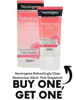 Neutrogena Refreshingly Clear Moisturiser 50ml- Pink Grapefruit