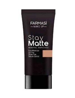 Farmasi Foundation Stay Matte Mineral Enriched Foundation soft Beige 06 30 ml