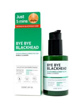 Some By Mi Bye Bye Blackhead 30 Days Miracle Green Tea Tox Bubble Cleanser – 120g